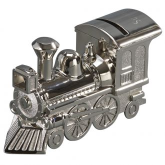TRAIN BANK WITH POLISHED FINISH