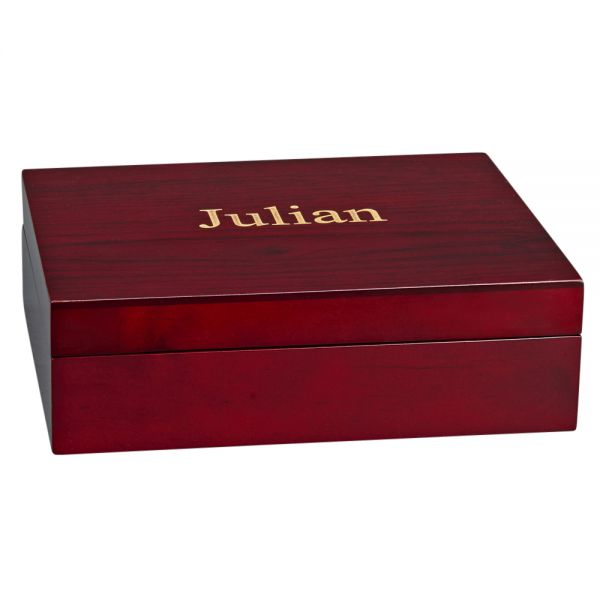 JULIAN STYLE ROSEWOOD FINISHED WOOD BOX