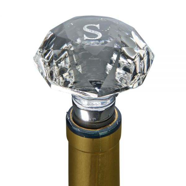 CLEAR OPTIC CRYSTAL BOTTLE STOPPER