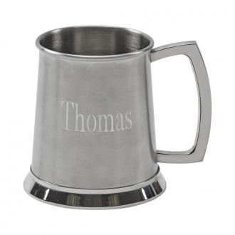 STAINLESS STEEL MATTE FINISH TANKARD, 4.5