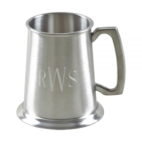 PEWTER TANKARD WITH MATTE FINISH