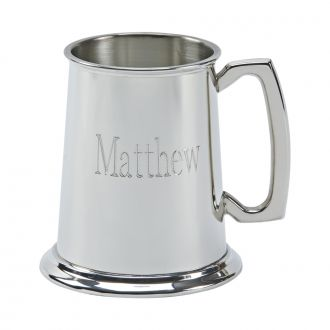 PEWTER TANKARD WITH POLISHED FINISH