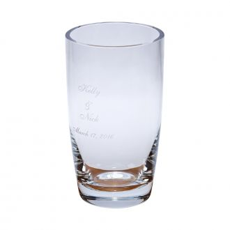 OPTIC CRYSTAL VASE, 9.75