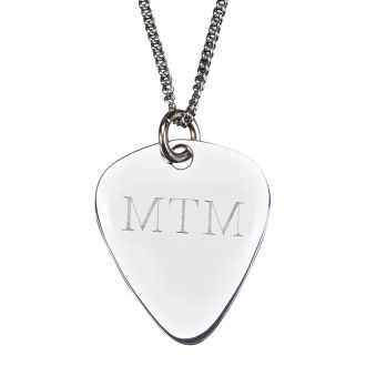 GUITAR PICK SHAPED PENDANT AND NECKLACE