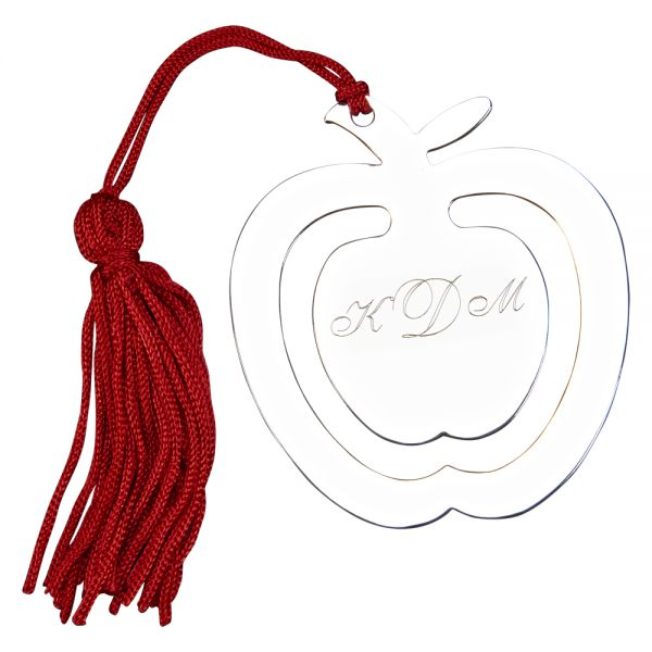 APPLE SHAPED BOOKMARK & TASSEL