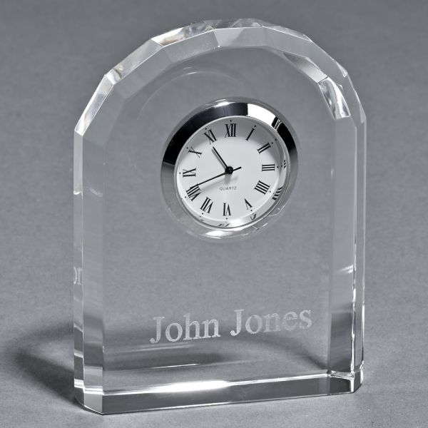 OPTIC CRYSTAL ARCHED CLOCK