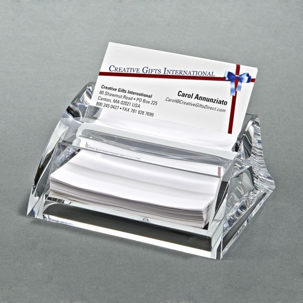 CLEARYLIC NAME CARD HOLDER & PAD OR PAPER HOLDER