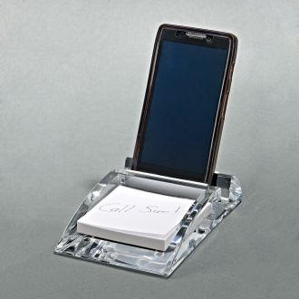 CLEARYLIC PHONE STAND WITH PAPER TRAY